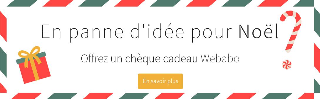 Chèque cadeau Webabo